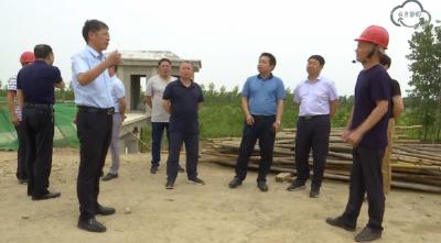 吴道新带队视察县水利和湖泊局提案办理情况