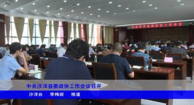 中共沙洋县委政协工作会议召开