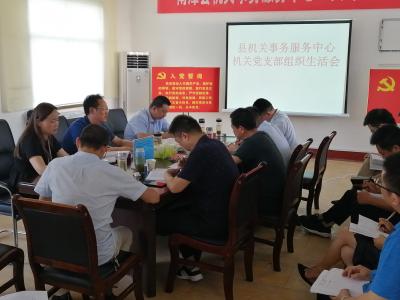 县机关事务服务中心召开民主生活会,推动党建组织建设健康发展