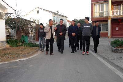 省财政厅调研组到武安镇开展美丽乡村专题调研