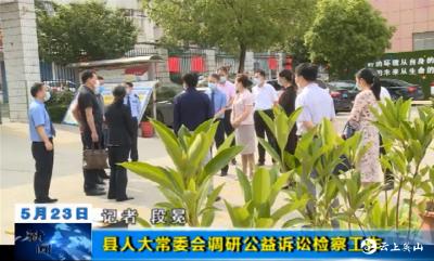 【视频】英山县人大常委会调研公益诉讼检察工作