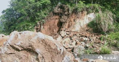 英山天马寨景区成功排除一处山体崩塌险情