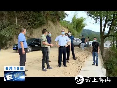 田洪光检查督办重点公路工程建设情况