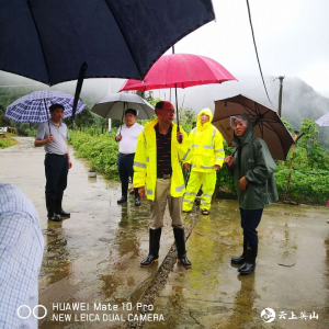 【快讯】郑伦福、宋德友实地察看温泉镇地质灾害受灾情况