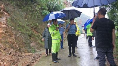 市自然资源局包联专班来英山县督导地灾防治工作