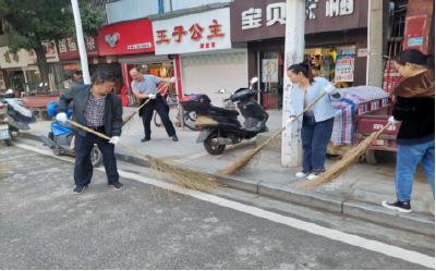 英山县环卫局党员进社区开展卫生大清洁活动