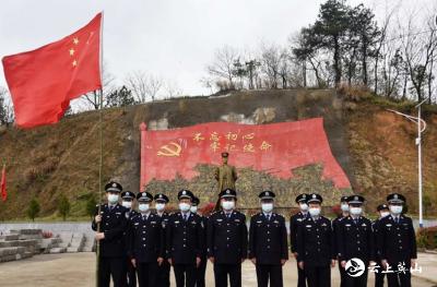 英山公安干警到蔡家畈村开展党史学习教育