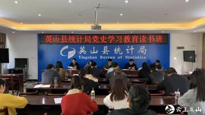县统计局党史学习教育第二期读书班开班