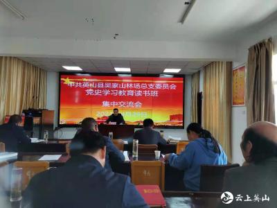 吴家山林场举办党史学习教育读书班交流会