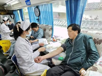 石头咀镇组织无偿献血活动