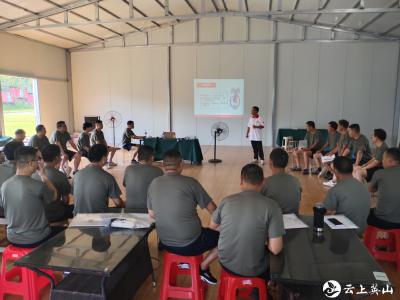 红十字会救护培训走进民兵训练营
