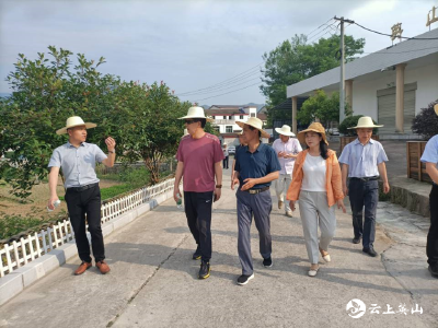 省财政厅验收南河镇瓦寺前村美丽乡村建设工作