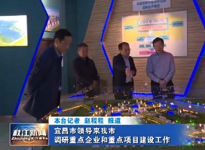 宜昌市领导来我市调研重点企业和重点项目建设工作
