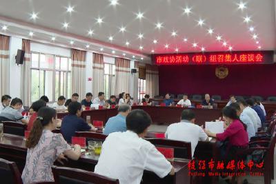 市政协活动(联)组召集人座谈会召开