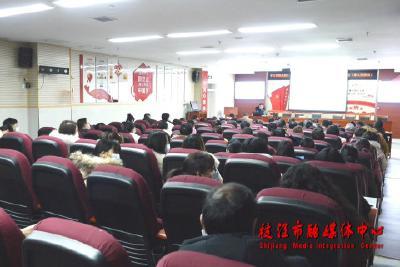 市委宣讲团在市人民医院、枝江酒业宣讲党的十九届五中全会精神