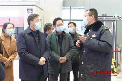 宜昌市领导来枝调研春运安全及疫情防控工作