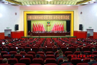 市政协六届五次会议举行大会发言