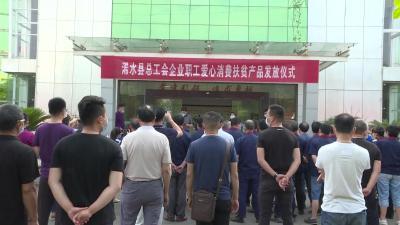 【视频】浠水县总工会为27家企业发放100万元爱心消费扶贫产品
