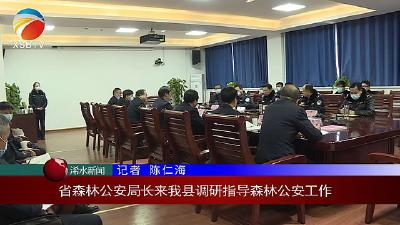 【视频】省森林公安局长来浠水县调研指导森林公安工作