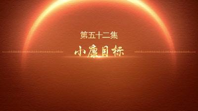【迎百年 学党史】百炼成钢:中国共产党的100年丨第五十二集 小康目标