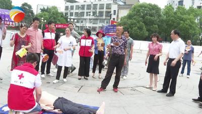 """【视频】我县举行第20个""""安全生产月""""宣传咨询日活动"""