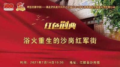 云上荆州直播 浴火重生的沙岗红军街