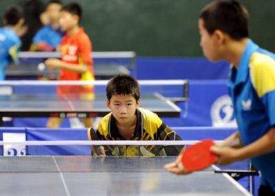 第十四届青少年儿童乒乓球赛落幕