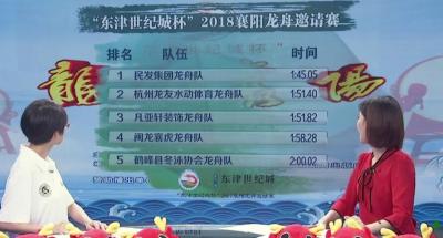 2018襄阳龙舟赛第一日比赛结束,大众组冠军是......