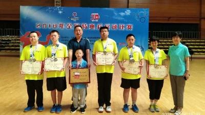 襄阳唐宝在全国特奥乒乓球比赛中荣获金牌