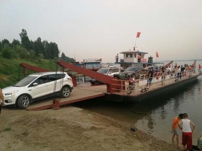 襄阳长寿岛国家湿地公园大吨位汽渡轮船本月正式开航
