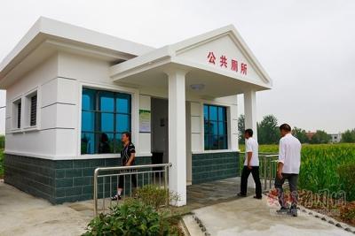 张湖村新建公共厕所投入使用