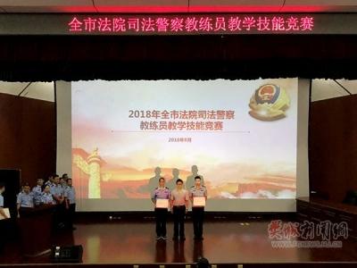 喜报!樊城法院法警队获奖了!