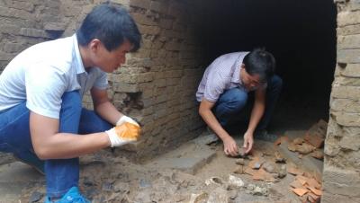 高新区一建筑工地发现东汉末年墓葬群