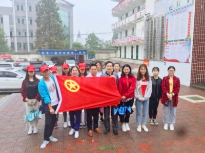 襄阳社区教育学院志愿者入户宣传创文