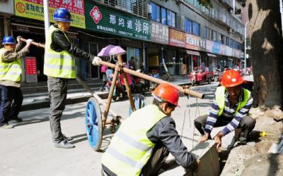 襄城加快推进背街小巷整治改造工程