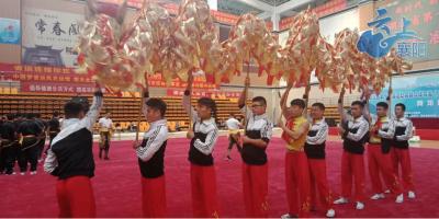 襄阳市舞龙队省运会上展风采