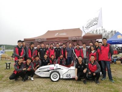 襄职2018年大学生方程式赛车队出征