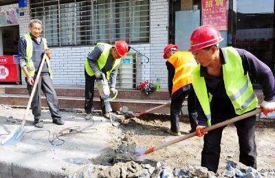 襄城19条背街小巷便民改造启动