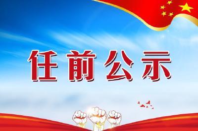 中共襄阳市委组织部干部任前公示公告