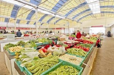 菜市场升级 买菜更便利