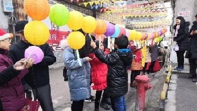 王府口社区开展喜迎元宵猜灯谜活动