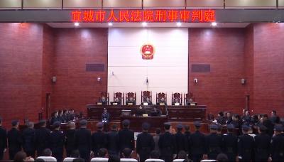 宜城法院公开宣判李某等15名被告人涉黑案件