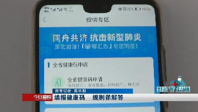 """【襄阳战""""疫"""" 众志成城】填报健康码 规则详解答"""