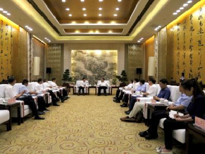 马旭明会见明阳新能源投资控股集团董事长张传卫