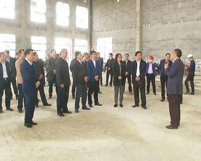 黄梅县党政考察团来蕲考察学习园区项目建设和美丽乡村工作经验