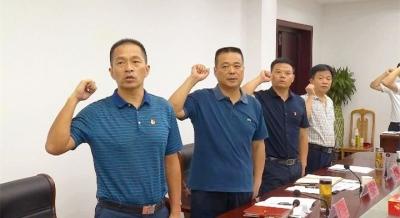 """詹才红参加县政府办""""支部主题党日""""活动"""
