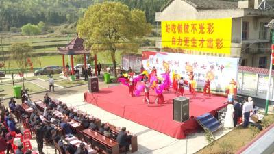 漕河镇大枫树村:宣讲扶贫政策 倡导文明新风