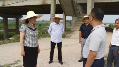 赵少莲、詹才红检查指导长江干支堤防汛巡查工作