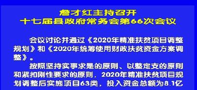 视频丨詹才红主持召开十七届县政府常务会第66次会议