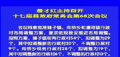 视频丨詹才红主持召开十七届县政府常务会第68次会议